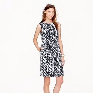 J. Crew Half Placket Dress in Tossed Hearts